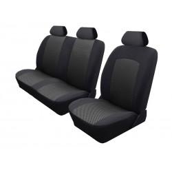 Pokrowce miarowe Comfort do CITROEN JUMPER II wersja 7 miejscowa tylne fotele klasyczne  od 2006