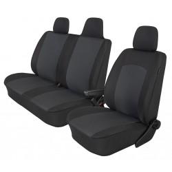 Pokrowce miarowe COMFORT do Nissan NV400 wersja 3 miejscowa z dzieloną kanapą