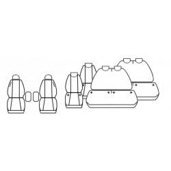 Pokrowce miarowe Comfort do Peugeot Traveller wersja 8 os.
