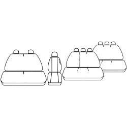Pokrowce miarowe COMFORT do Renault Trafic II wersja 9 miejscowa od '01-14