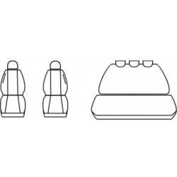 Pokrowce miarowe COMFORT do Renault Trafic II wersja 5 miejscowa od '01-14