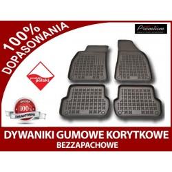 dywaniki gumowe FIAT DOBLO II rocznik od 2009, 5 siedzeń, 7 siedzeń