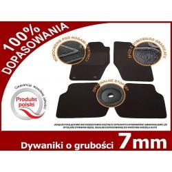 Dywaniki welurowe DACIA DUSTER 4x2 od '10-14