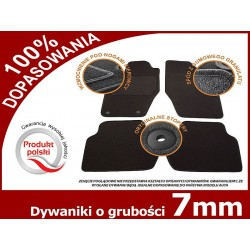 Dywaniki welurowe MERCEDES SMART FORTWO od '14