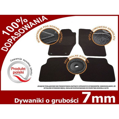 dywaniki welurowe PEUGEOT 107 rocznik od 2012